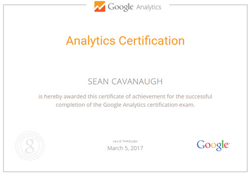 analytics certified